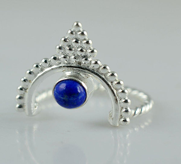 Lapis Lazuli 925 Solid Sterling Silver Handmade Iconic Ring - NavyaCraft