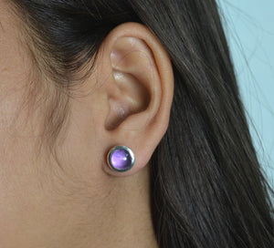 Amethyst 925 Solid Sterling Silver Handmade Round Earrings