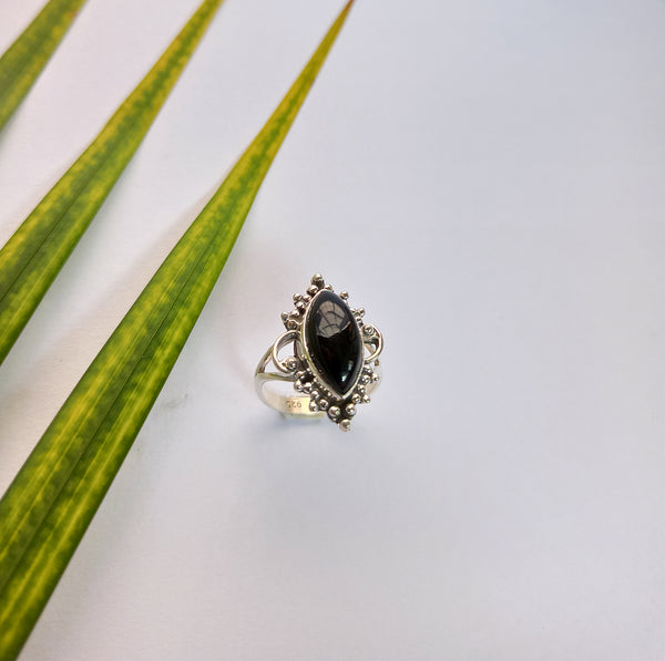 Black Onyx 925 Solid Sterling Silver Handmade Marquise Ring