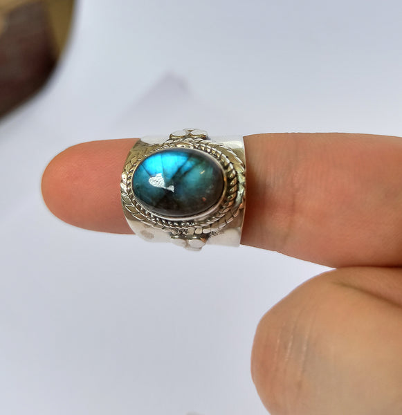 Labradorite 925 Solid Sterling Silver Handmade Stylish Ring
