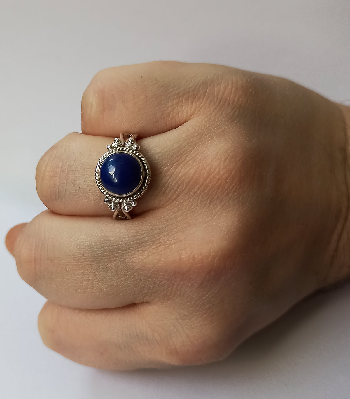 Lapis Lazuli 925 Solid Sterling Silver Handmade Greek Ring