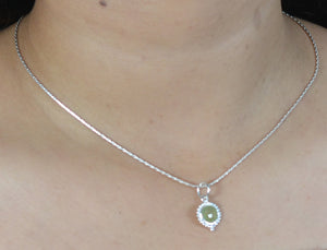 Prehnite 925 Solid Sterling Silver Handmade Necklace Chain