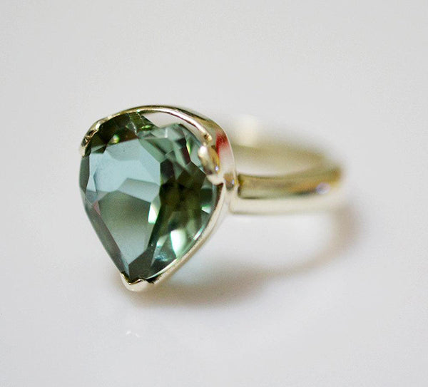 Lab-created Alexandrite 100% Color Change Handmade 925 solid Sterling Silver Promise Ring - NavyaCraft
