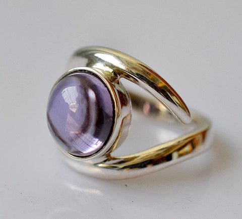 Lab-Created Alexandrite 100% Color Change Handmade 925 Solid Sterling Silver Iris Ring - NavyaCraft