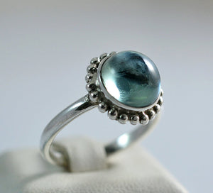 Lab-Created Alexandrite 100% Color Change Handmade 925 Solid Sterling Silver Skirted Ring - NavyaCraft