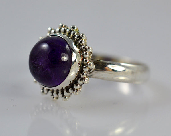 Amethyst 925 Solid Sterling Silver Bloom Ring - NavyaCraft