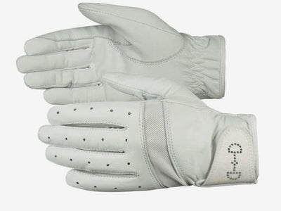 HORZE LADIES LEATHER MESH GLOVES