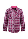 PURE WESTERN GIRLS SHANAN CHECK WESTERN L/S SHIRT