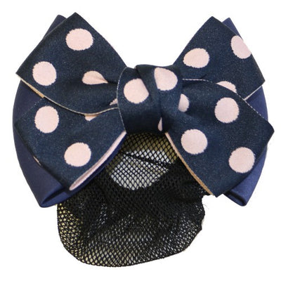 HUNTINGTON POLKA DOT SHOW BOW WITH HAIR NET