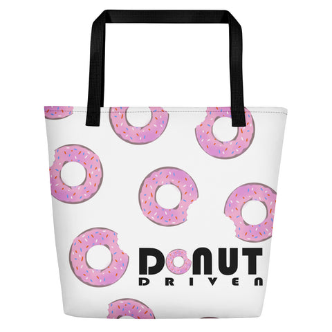 Donut Driven Beach Tote Front