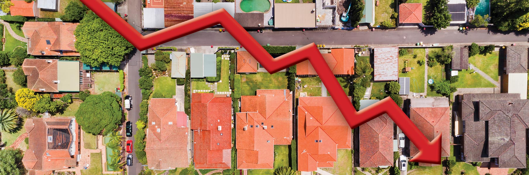 australian housing price slump