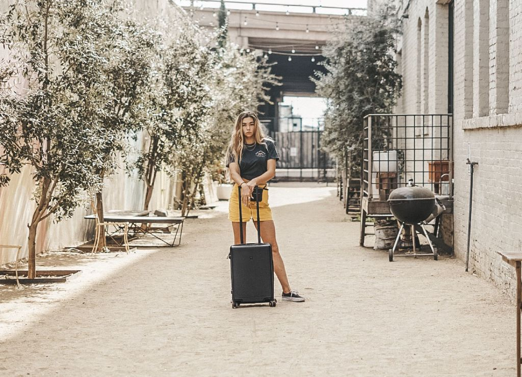 travel with level8 suitcase