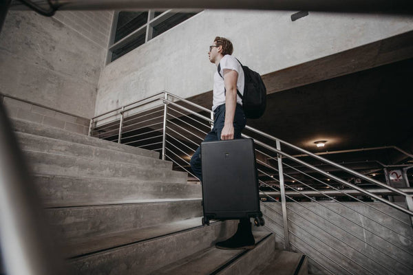 One man travels with Elegance luggage