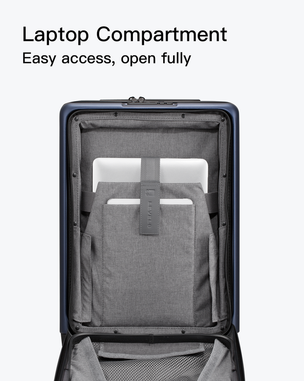 carry on luggage with laptop pocket