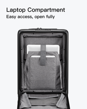 black carry on suitcase-laptop compartment