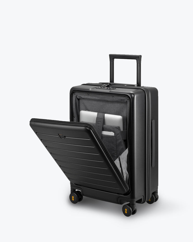 black luggage pocket for laptop