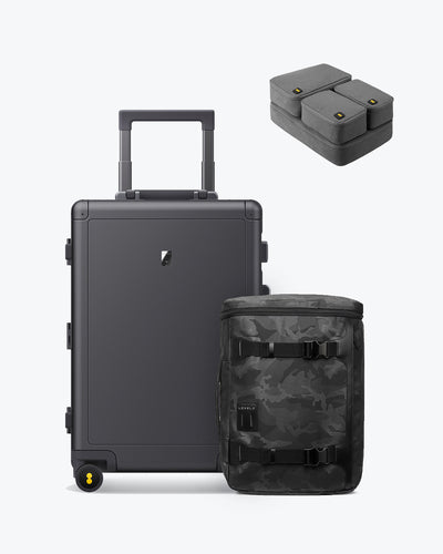 backpack aluminum carry on luggage set for sale