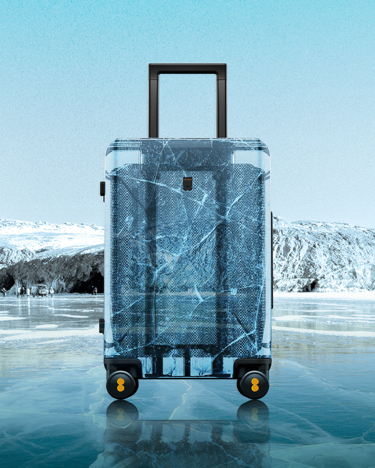 "LEVEL8 Fantasy Transparent Carry On Luggage 20"" (PC Shell Material)"