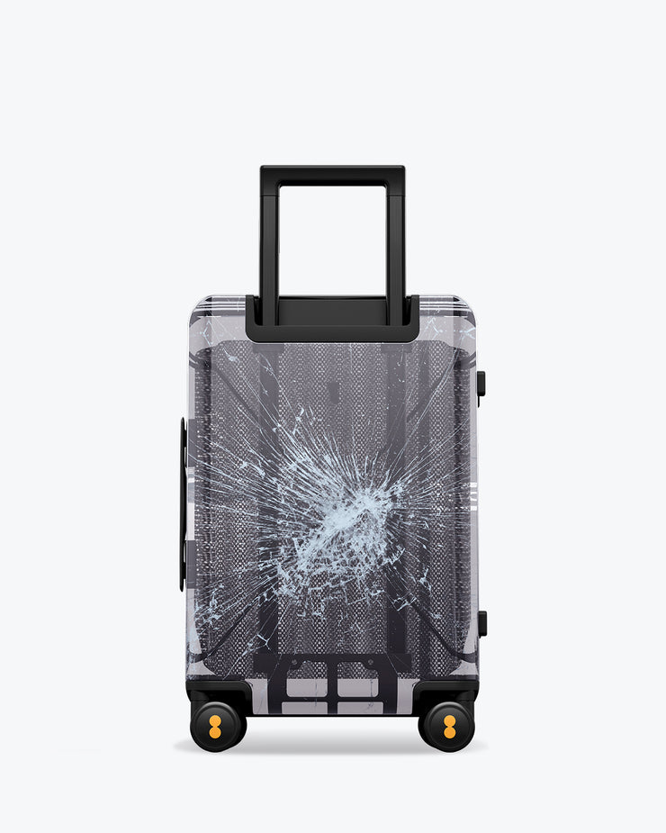 LEVEL8 Fantasy Black Transparent Carry-On Luggage 20""