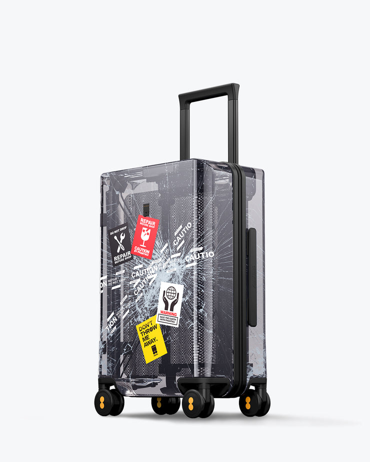 "LEVEL8 Fantasy  Black Transparent Carry On Luggage 20"" (PC Shell Material)"