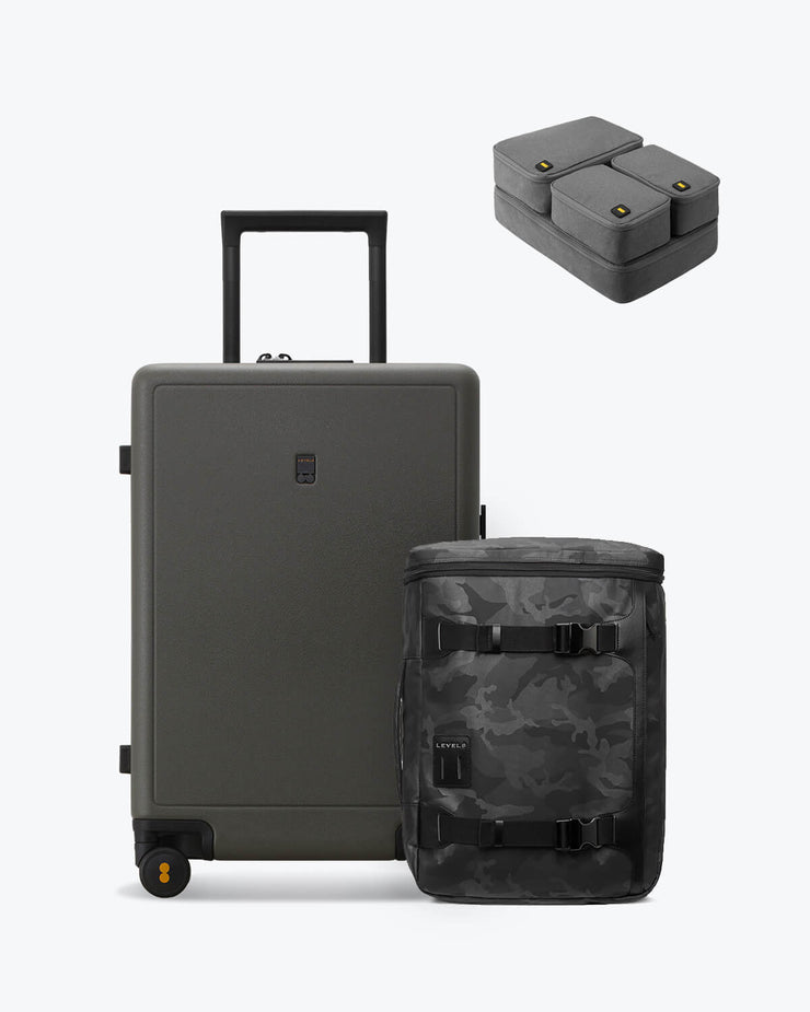backpack and carry on luggage set