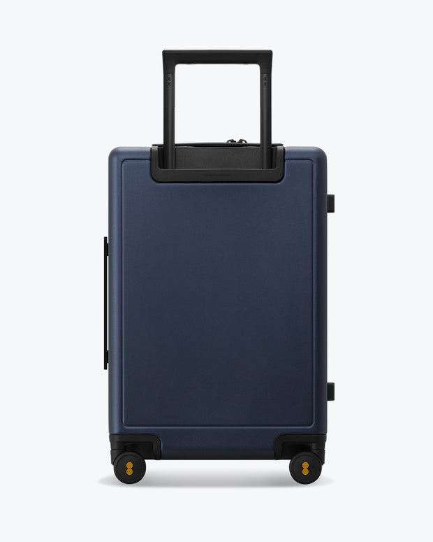 checked travel bag navy