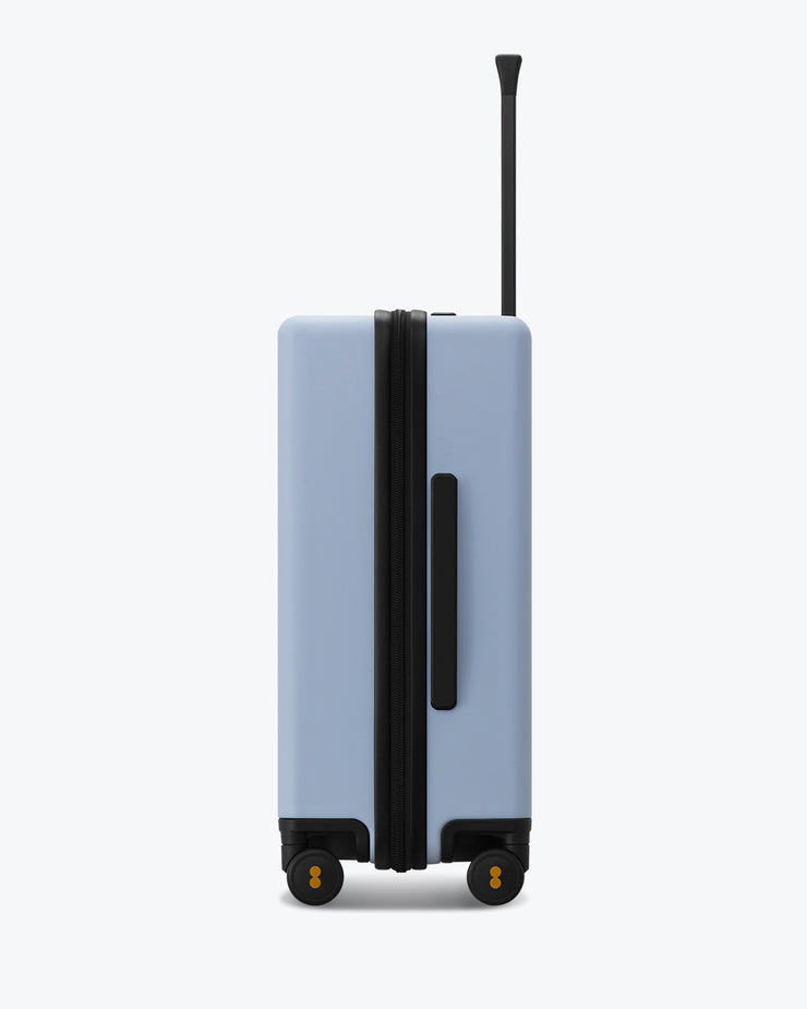 checked travel bag lightblue