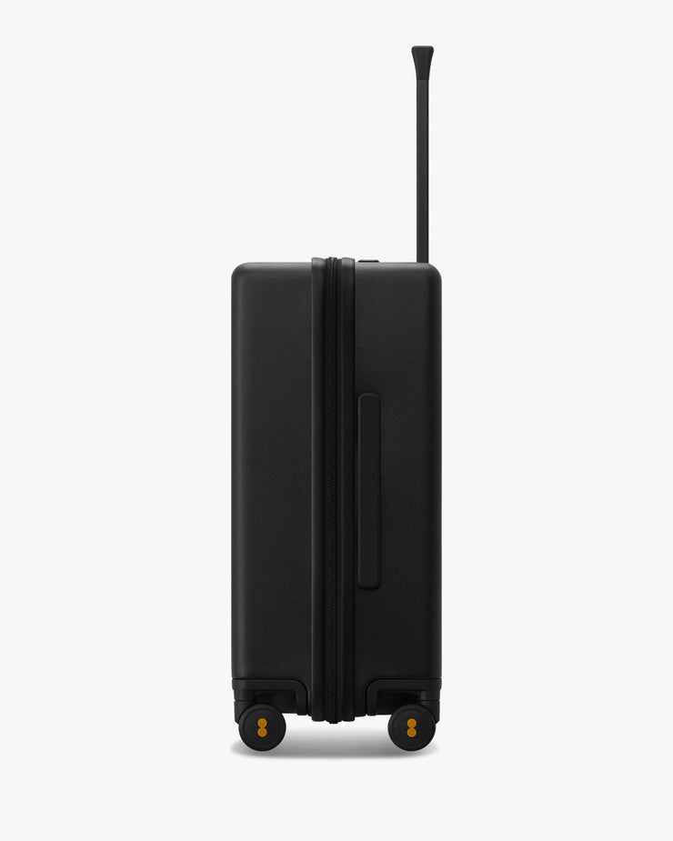 black checked travel bag