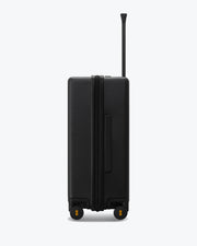 checked travel bag black
