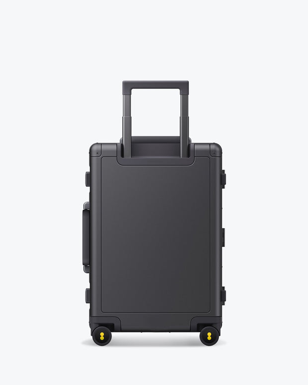 aluminum luggage bag backside
