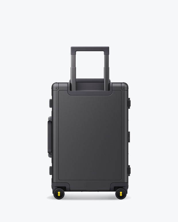 aluminum luggage backside