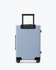 carry on luggage backside skyblue