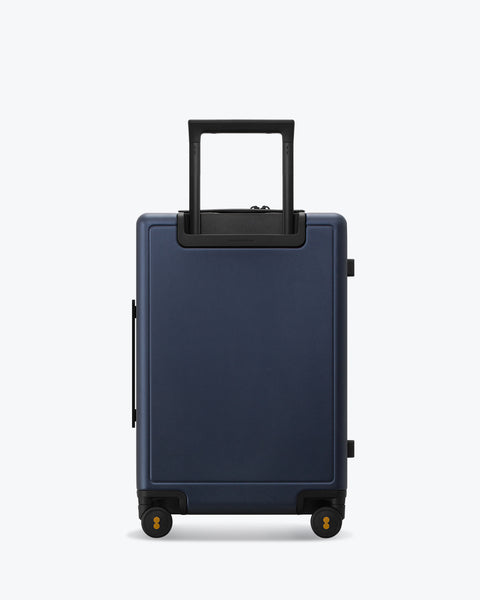 carry on luggage backside blue