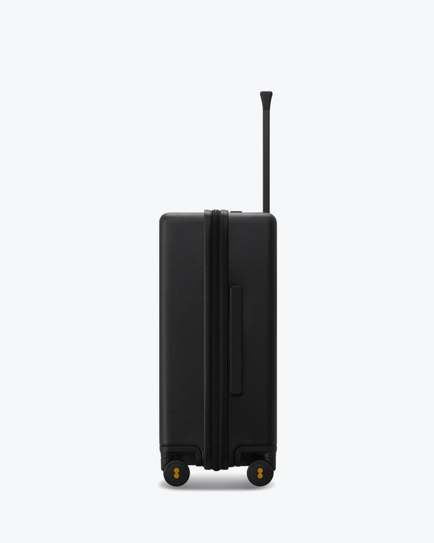 black travel luggage carry on