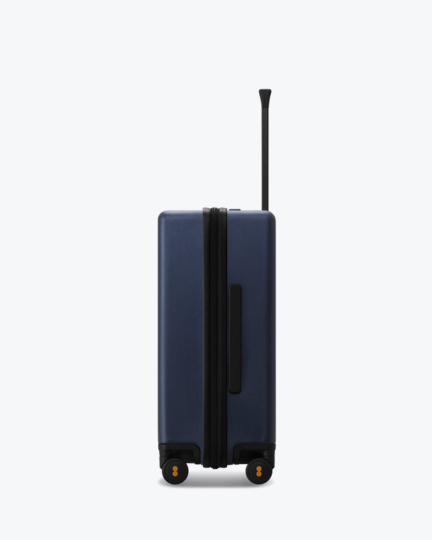 blue carry on luggage bag