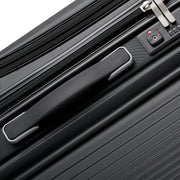 Grace Roller Luggage With Front Zippered Laptop Compartment, Black