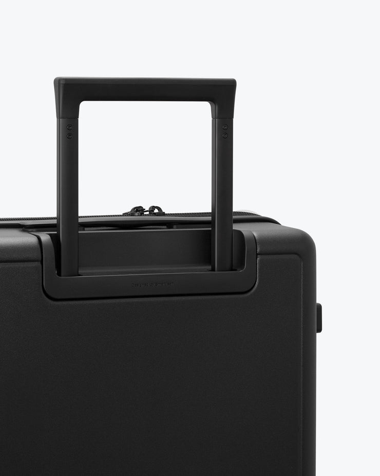 black luggage handle