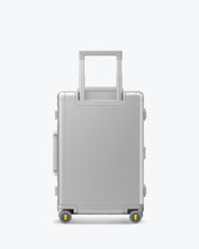 aluminum suitcase backside