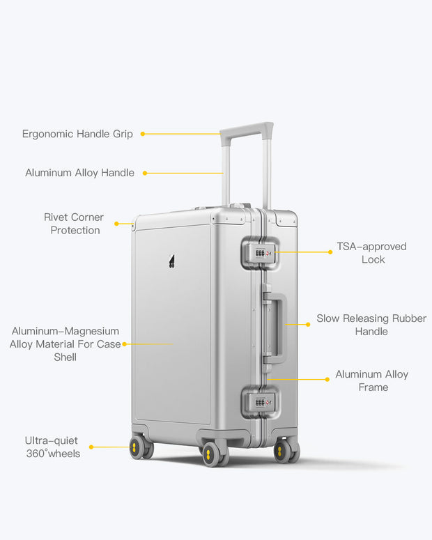 Alluminum Luggage features
