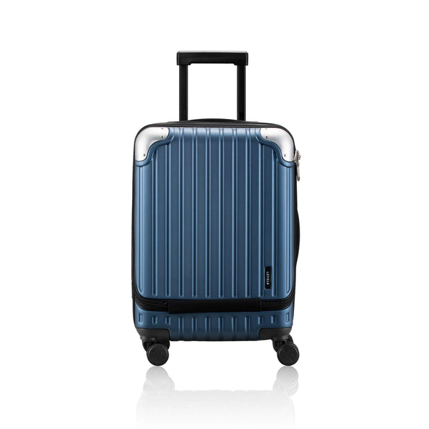 blue carry-on luggage