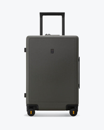 "Elegance Matte Check In Luggage 24"" Darkolive"