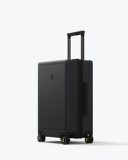 black carry on luggage bag with spinner