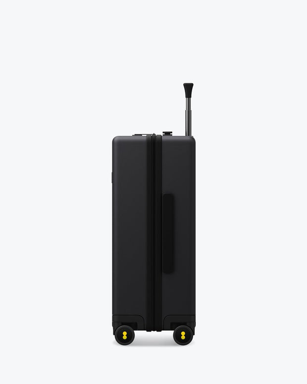 black carry on luggage with tsa lock
