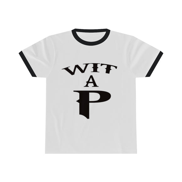 Wit A P Unisex Ringer Tee