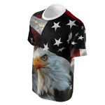 American Eagle T-shirt, Merchant of Liberty, American flag shirt, patriotic shirts, libertarian shirts, bald eagle shirt, flag shirt, patriotic clothing, American flag apparel.