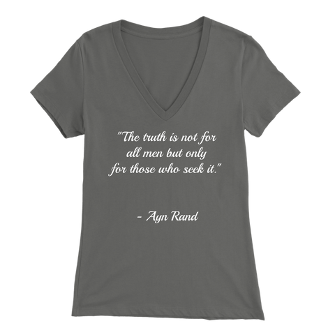 Ayn Rand Quote - Women's V-Neck