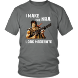 'I Make The NRA Look Moderate' Rambo T-Shirt, libertarian shirt, second amendment shirt, pro gun t-shirt