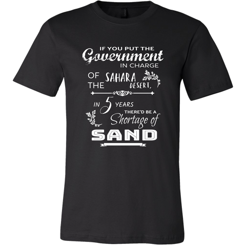 """If You Put The Government In Charge..."" Men's T-Shirt, Milton Friedman quote t-shirt, Merchant Of Liberty, Libertarian t-shirt, liberty apparel, liberty gear."