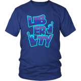 Neon Liberty T-Shirt, merchant of liberty, libertarian t-shirt, liberty shirts