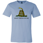 "Don't Tread On Me T-Shirt There isn't a more classic way of letting your friends know of your pride for liberty, than a ""Don't Tread On Me"" shirt. If you're a veteran, this shirt may be the perfect liberty apparel for you. Merchant Of Liberty, libertarian t-shirt"